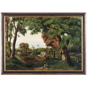 Continental School, Folk Art Forest Landscape