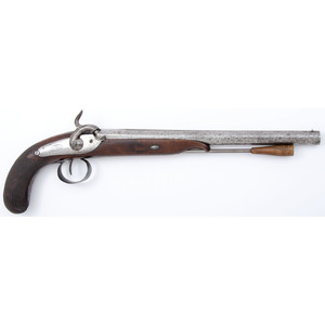 French Percussion Pistol Utilizing A 18th Century Barrel By George Keiser In Vien
