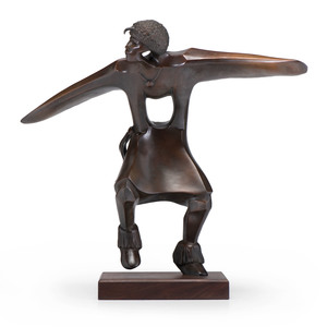 Allan Houser (Chiricahua Apache, 1914-1994) Bronze Sculpture, From the Collection of Judge Norman and Patricia Murdock, Ohio