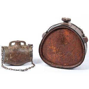 Lot of 2 19th Century Canteens
