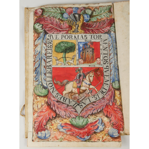 Bound Manuscripts of Spanish Royal Notary Diego Valero de Molina with Painted Coat of Arms with LS by King Charles II