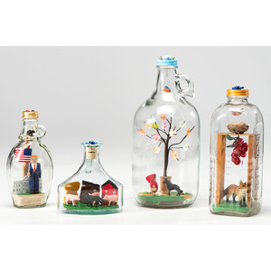 Four Contemporary Whimsey Bottles by Tim Fisher (American, 21st Century)