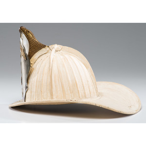 A Chapman-Steamer Leather Eagle Fireman's Helmet