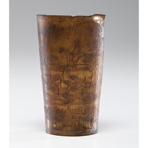 An Engraved Horn Cup