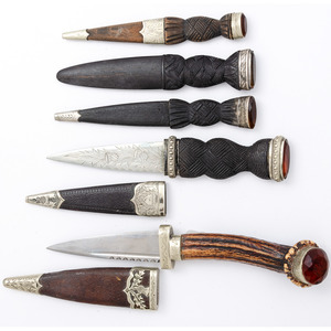 Lot of Five Scottish Sgian Dubh