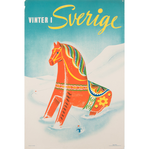 Swedish Winter Travel Posters, Lot of Two