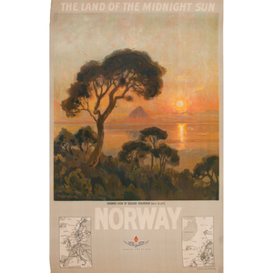 Thorolf Holmboe (Norwegian, 1866-1935) Norway The Land of the Midnight Sun