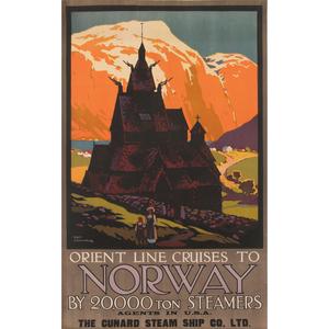 Odin Rosenvinge (British, 1880-1957) Orient Line Cruises to Norway