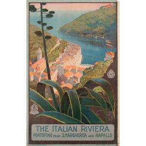 Mario Borgoni (Italian, 1869-1936) The Italian Riviera