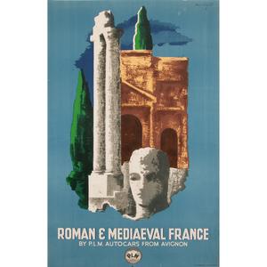Lajos Marton (Hungarian, 1891-1952) Roman & Mediaeval France
