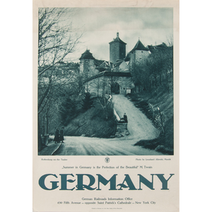 German Photographic Posters, Rothenburg-on-the Tauber and A Spring Day in Heidelberg, Lot of Two
