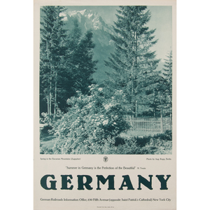 German Photographic Posters, Spring in the Bavarian Mountains (Zugspitze) and Spring in Baden,  Lot of Two