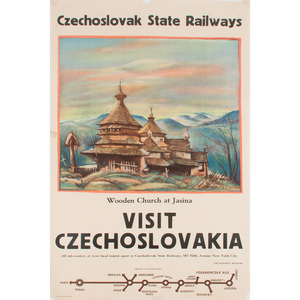 Czechoslovak Travel Posters, Lot of Three