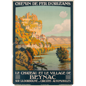 Leon Constant-Duval (French, 1877-1956) Le Chateau et le Village de Beynac