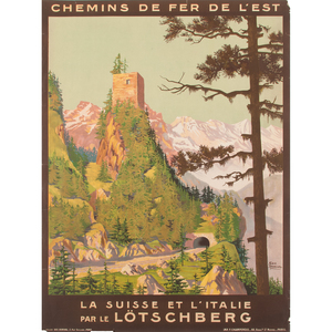 Georges Dorival (French, 1879-1968) La Suisse et L'Italie par le Lötschberg