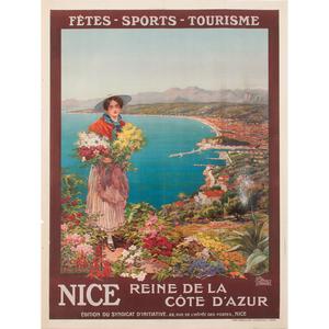 Pierre Comba (20th Century) Nice Reine de la Côte d'Azur