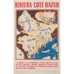 Simone Gardiner (French, 20th Century) Riviera - Cote D'Azur