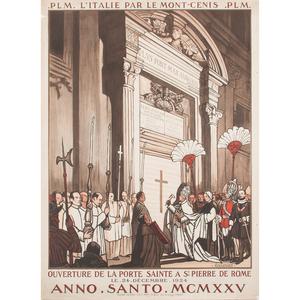 Jean Julien (French, b. 1888) Ouverture de la Porte de Sainte a St Pierre de la Rome