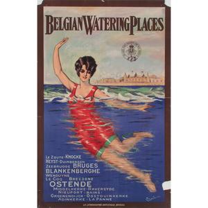 L. Corbelis (20th Century) Belgian Watering Places