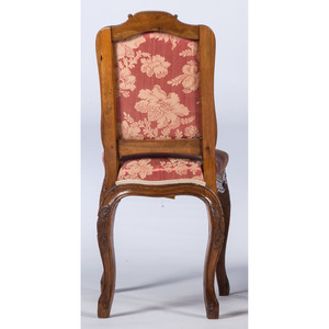 A Continental Carved Mahogany Side Chair