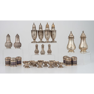 Sterling Silver Casters and Salts, Plus