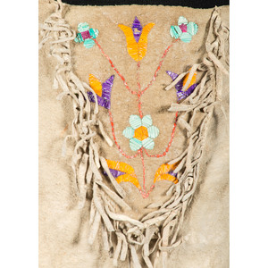 Sioux Quilled Hide Shirt and Leggings, Collected by General Herbert Everett Tutherly (1848-1921)