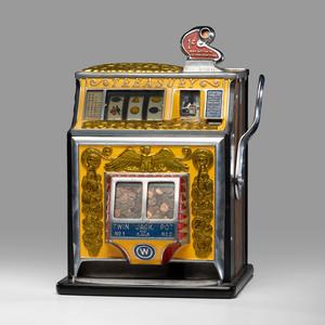 A Watling 1¢ Treasury Twin Jackpot Slot Machine