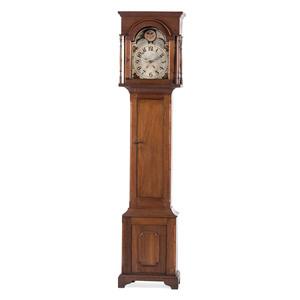 An English Oak Tall Case Clock
