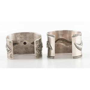 Vernon Tracy (Dine, d. 2015) AND Edison Cummings (Dine, b. 1962) Silver Cuff Bracelets PLUS