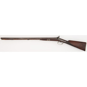 Double Barrel Percussion Shotgun By Spang & Wallace Philadelphia