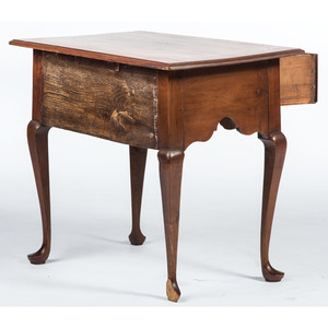 A New England Queen Anne Carved Cherrywood Dressing Table