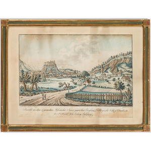 Five Austrian and French Hand-Colored Engravings Depicting Austrian Towns