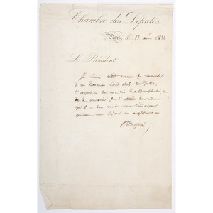 Louis Lebegue Duportail, Revolutionary War-Era French Military Leader, Manuscript Document Signed, Plus