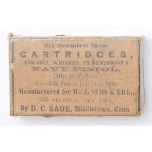 D.C. Sage Seamless Cartridges for Navy Pistol
