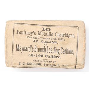 Full Box of Cartridges for Maynard's Breech Loading Carbine