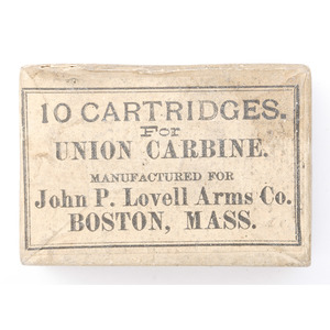 Box of Ten Cartridges for Union Carbine