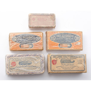 Lot of Five Commercial Cartridge Boxes