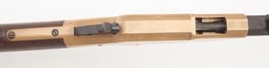 A Union Pacific Railroad Henry Rifle Serial Number 7744 Manufactured in 1864 Period Engraved on Left Side of Frame