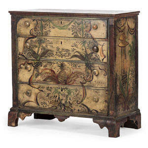 A Chippendale Painted Chest of Drawers
