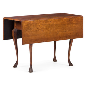 A Chippendale Style Cherrywood Double Drop-Leaf Table