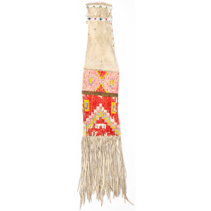 Sioux Quilled Hide Tobacco Bag