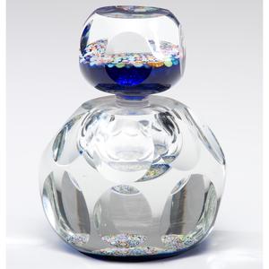 A Millefiori Bottle-Form Glass Paperweight
