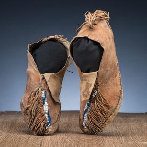 Comanche Beaded Hide Moccasins