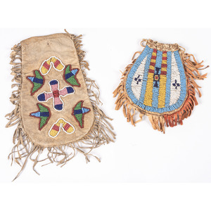 Northern Plains Beaded Hide Bags