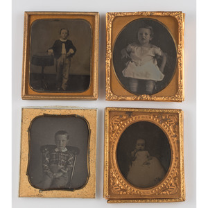 Assorted Sixth Plate Portraits of Children, Lot of 20