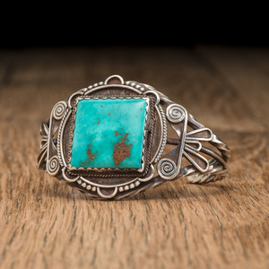 Fred Peshlakai (Dine, 1896-1974) Attributed, Navajo Silver and Turquoise Cuff Bracelet