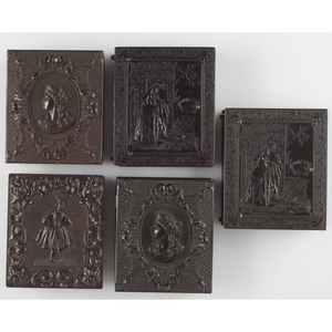 Collection of Five Rare Ninth Plate Figural Union Cases
