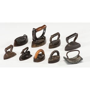 Nine Miniature Sad Irons