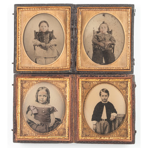 Charming Assortment of Portraits Featuring Siblings, Lot of 16