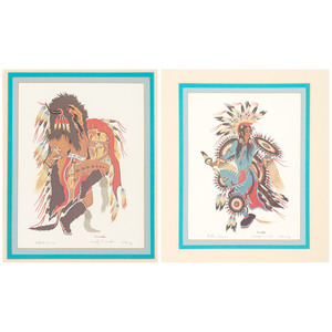 Woody Crumbo (Potawatomi, 1912-1989) Lithographs on Paper
